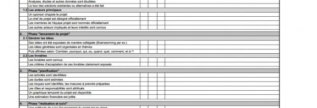 La checklist réussir un projet en 5 étapes